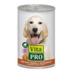 Vita Pro консервы для собак с ягненком 400 гр х 6 шт