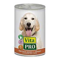 Vita Pro консервы для собак с дичью 400 гр х 6 шт