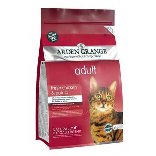 Arden Grange сухой корм для кошек с курицей и картофелем 8 кг