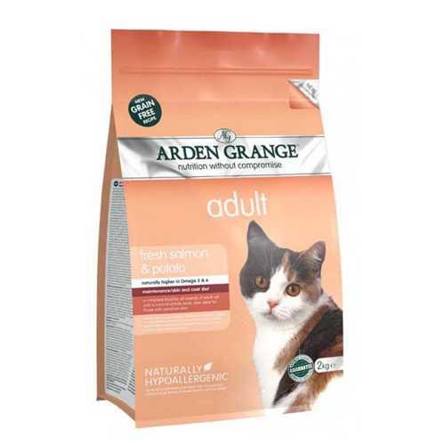 Arden Grange сухой корм для кошек с лососем и картофелем 8 кг