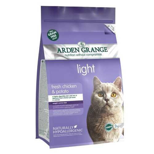 Arden Grange Light сухой корм для кошек низкокалорийный 8 кг