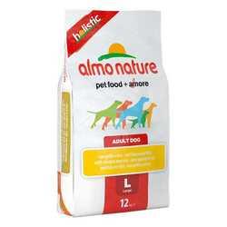 Almo Nature Holistic сухой корм для собак крупных пород с курицей 12 кг