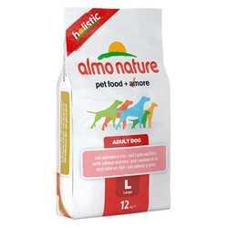 Almo Nature Holistic сухой корм для собак крупных пород с лососем 12 кг