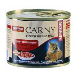 Animonda Carny Senior консервы для пожилых кошек с говядиной и сердцем индейки (0,20 кг) 6 шт