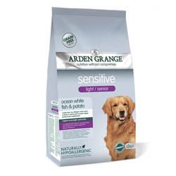 Arden Grange Sensitive Light / Senior корм для пожилых собак с рыбой 12 кг