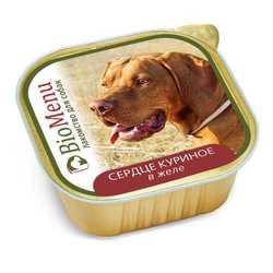 Biomenu консервы для собак сердце куриное в желе (0,15 кг) 1 шт