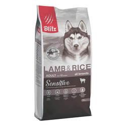 Блиц сухой корм для собак всех пород с Ягненком 15 кг