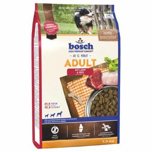 Bosch Adult Lamb Rice сухой корм для собак с ягненком 3 кг