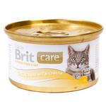 Brit Care Chicken and Cheese консервы для кошек с курицей и сыром (0,08 кг) 1 шт