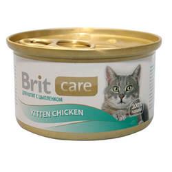 Brit Care Kitten консервы для котят с курицей (0,08 кг) 1 шт