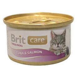 Brit Care Tuna and Salmon консервы для кошек с тунцом и лососем (0,08 кг) 1 шт