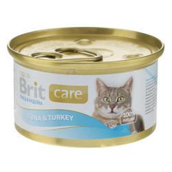Brit Care Tuna and Turkey консервы для кошек с тунцом и индюшкой (0,08 кг) 1 шт