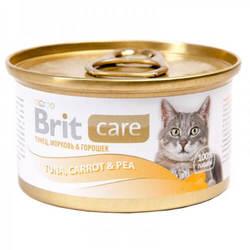Brit Care Tuna консервы для кошек с тунцом и овощами (0,08 кг) 1 шт