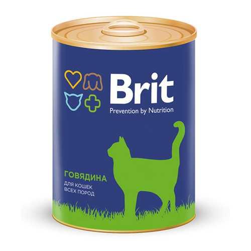 Brit Beef консервы для кошек с говядиной (0,34 кг) 1 шт