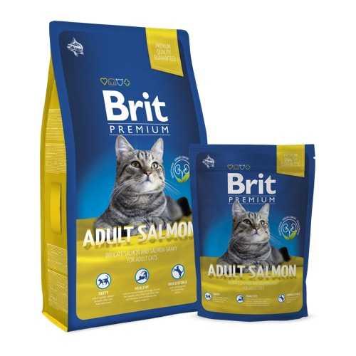 Brit Premium Cat Salmon сухой корм для кошек с лососем 1.5 кг