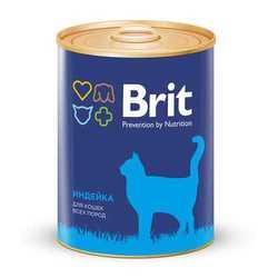 Brit Turkey консервы для кошек с индейкой (0,34 кг) 1 шт