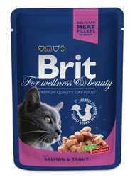 Brit Salmon and Trout паучи для кошек с лососем и форелью (0,10 кг) 24 шт