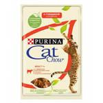 Cat Chow паучи для кошек говядина с баклажанами в желе (0,085 кг) 24 шт