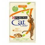Cat Chow паучи для кошек курица с кабачками в желе (0,085 кг) 24 шт