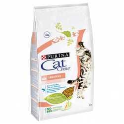Cat Chow корм для кошек с чувствительным пищеварением 15 кг