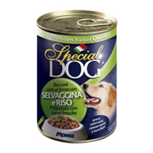 Спешиал дог консервы для собак дичь с рисом (0,40 кг) 12 шт