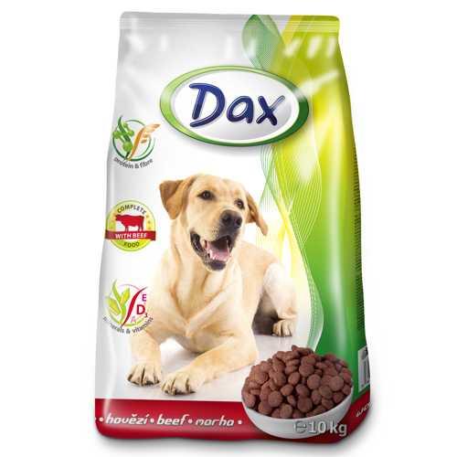 Dax сухой корм для взрослых собак с говядиной 10 кг