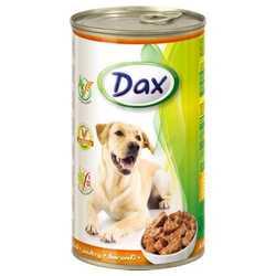 Dax консервы для взрослых собак с птицей (1,240 кг) 12 шт