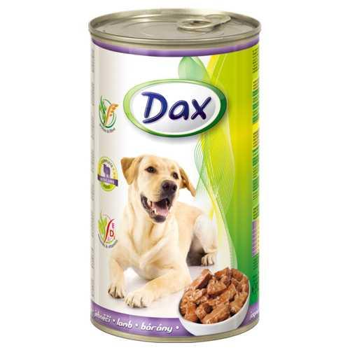 Dax консервы для взрослых собак с ягненком (1,240 кг) 12 шт