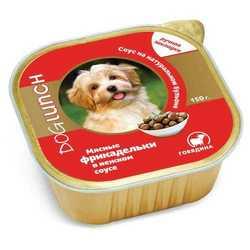 Dog Lunch консервы для собак фрикадельки в соусе с говядиной (0,15 кг) 10 шт