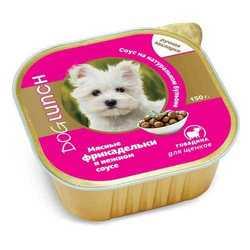 Dog Lunch консервы для щенков фрикадельки в соусе (0,15 кг) 10 шт
