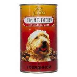 Dr.Alders Dog Garant консервы для собак с мясом (1,2 кг) 12 шт