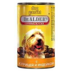 Dr.Alders Dog Garant консервы для собак с птицей (1,2 кг) 12 шт