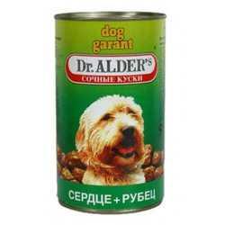 Dr.Alders Dog Garant консервы для собак с сердцем и рубцом (1,2 кг) 12 шт