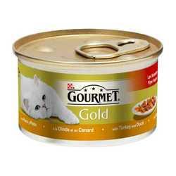Gourmet Gold Mousse Duck & Vegetables   Консервы Гурме Голд для кошек паштет с уткой, морковью и шпинатом  (24 шт х 85 гр)