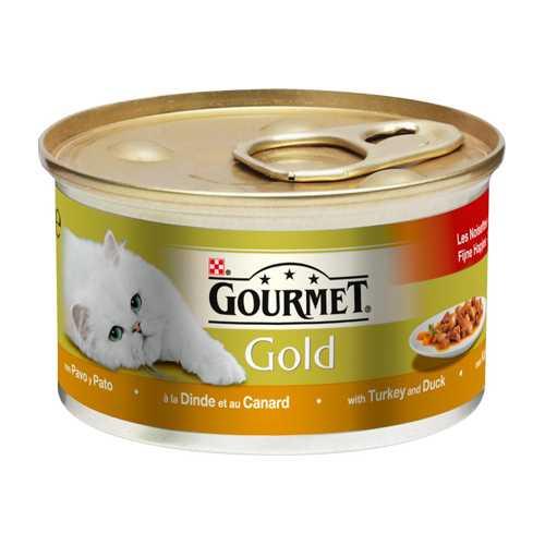 Gourmet Gold Mousse Duck & Vegetables | Консервы Гурме Голд для кошек паштет с уткой, морковью и шпинатом (24 шт х 85 гр)