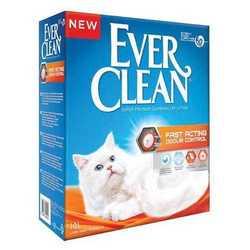 Ever Clean Fast Acting наполнитель комкующий быстрого действия 6 кг
