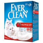 Ever Clean Multiple Cat наполнитель комкующий для нескольких кошек (красная полоса) 6 кг