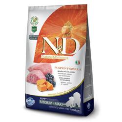 Farmina N&D Pumpkin Lamb Puppy Medium & Maxi беззерновой корм для щенков средних и крупных пород с ягненком и тыквой 12 кг