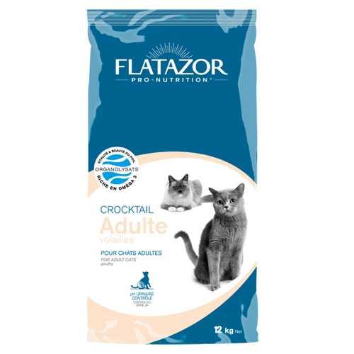 Flatazor Crocktail Poultry сухой корм для кошек с птицей 3 кг