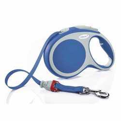 Flexi Vario L для собак до 50 кг - длина лента 8 м (синяя)