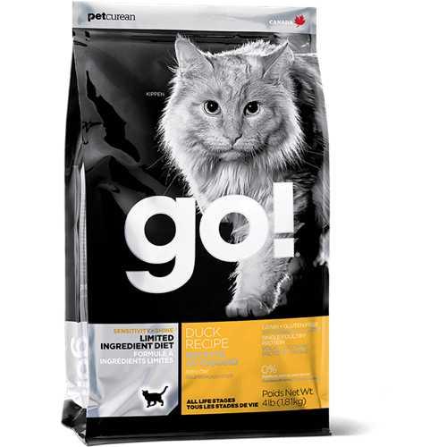 Go! Natural сухой корм для кошек и котят с уткой 7,26 кг