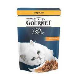 Gourmet Perle Chicken | Паучи Гурме Перл с мини филе курицы (24 шт x 85 гр)