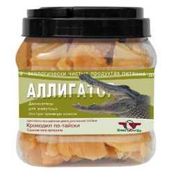 """Лакомство Грин Кьюзин для собак """"Аллигатор"""" сушёное мясо крокодила 750гр"""