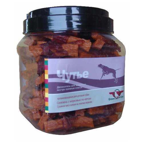 """Лакомство Грин Кьюзин для собак """"Чутье"""" из сушеного мяса утки с морковью 750 гр"""