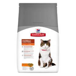 Hills Science Plan Feline Adult Hairball Control корм для выведения шерсти из желудка кошек 1,5 кг