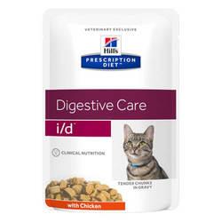 Hills Prescription Diet Feline i/d паучи для кошек при лечении ЖКТ (0,085 кг) 12 шт