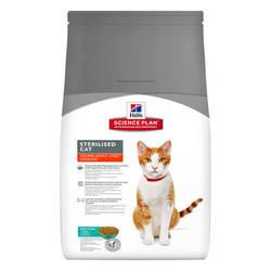 Hills Science Plan Adult Sterilised корм для стерилизованных кошек с тунцом 1,5 кг