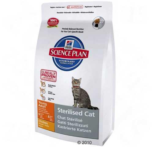 Hills Feline Young Adult Sterilised Cat   Сухой корм Хиллс для молодых и взрослых стерилизованных кошек 3,5 кг