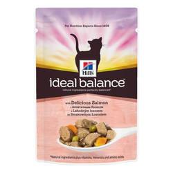 Hills Ideal Balance Feline паучи для кошек c лососем (0,082 гр) 12 шт