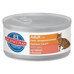 Hills Science Plan Optimal Care Adult with Salmon консервы для кошек с лососем (0,082 гр) 12 шт
